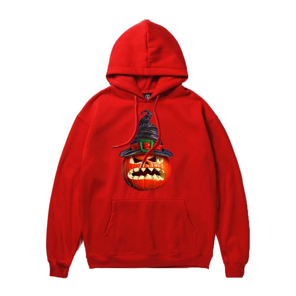 Fanteecy Sweatshirt Unisex Novelty Hoodies 3D Digital Print Sweatshirt Pockets Pullover Skeleton Sweatshirt Red by Fanteecy