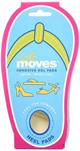 Tuli's SoftMoves Gel Heel Pads - Heel Inserts for Any Shoe Type (Flip-Flops, Heels, Open and Closed Toe Shoes) - Relieves Heel Pain (One Size Fits All)