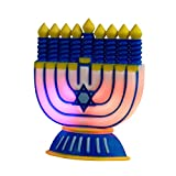 "Rite Lite 6"" Battery Operated Color Changing LED Chanukah Hanukkah Window Decoration"