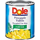 Dole Pineapple Tidbits in Light Syrup, 106 Ounce Cans (Pack of 6)