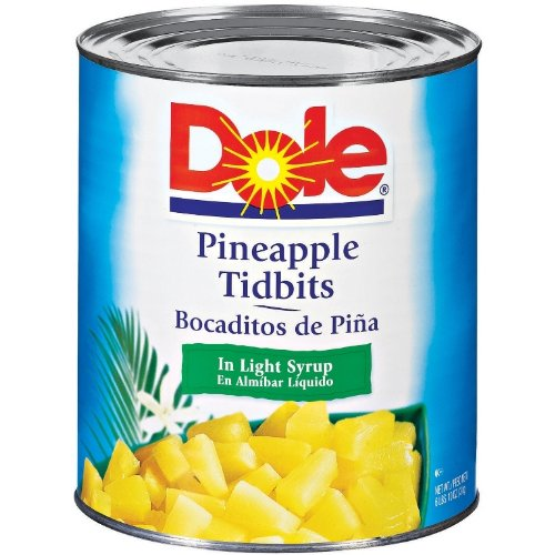 Dole Pineapple Tidbits in Light Syrup, 106 Ounce Cans (Pack of 6) by Dole