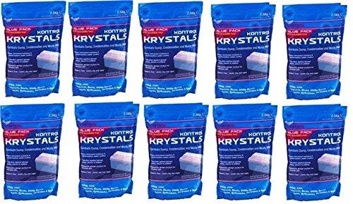 10 x Kontrol Moisture Krystal Refill Pack - Blue, 2.5Kg, Total 25Kg