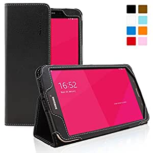 Snugg™ Samsung Galaxy Tab 3 8.0 Tablet Case - Smart Cover with Flip Stand & Lifetime Guarantee (Black Leather) for Samsung Samsung Galaxy Tab 3 8.0