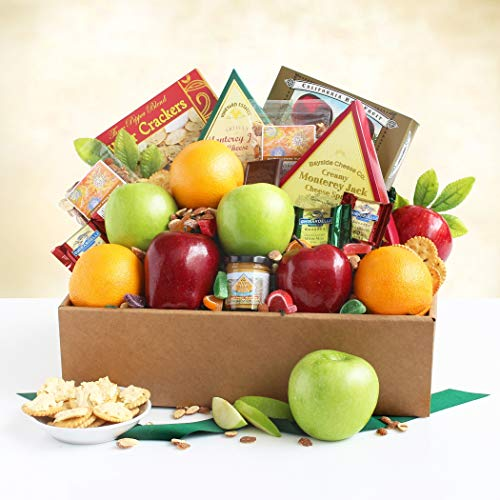 Hampers Christmas Gifts - Care Package Gift | Fruit, Cheese, Crackers, Chocolate and More