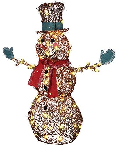 GEMMY STARRY NIGHT GRAPEVINE SNOWMAN PROP CHRISTMAS DECOR Garden Yard Village – SS87718MDG For Sale