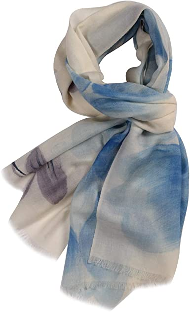 Beach Wrap//Scarf Woman/'s Fashion Soft Floral Scarf 100/% Modal Made in Italy