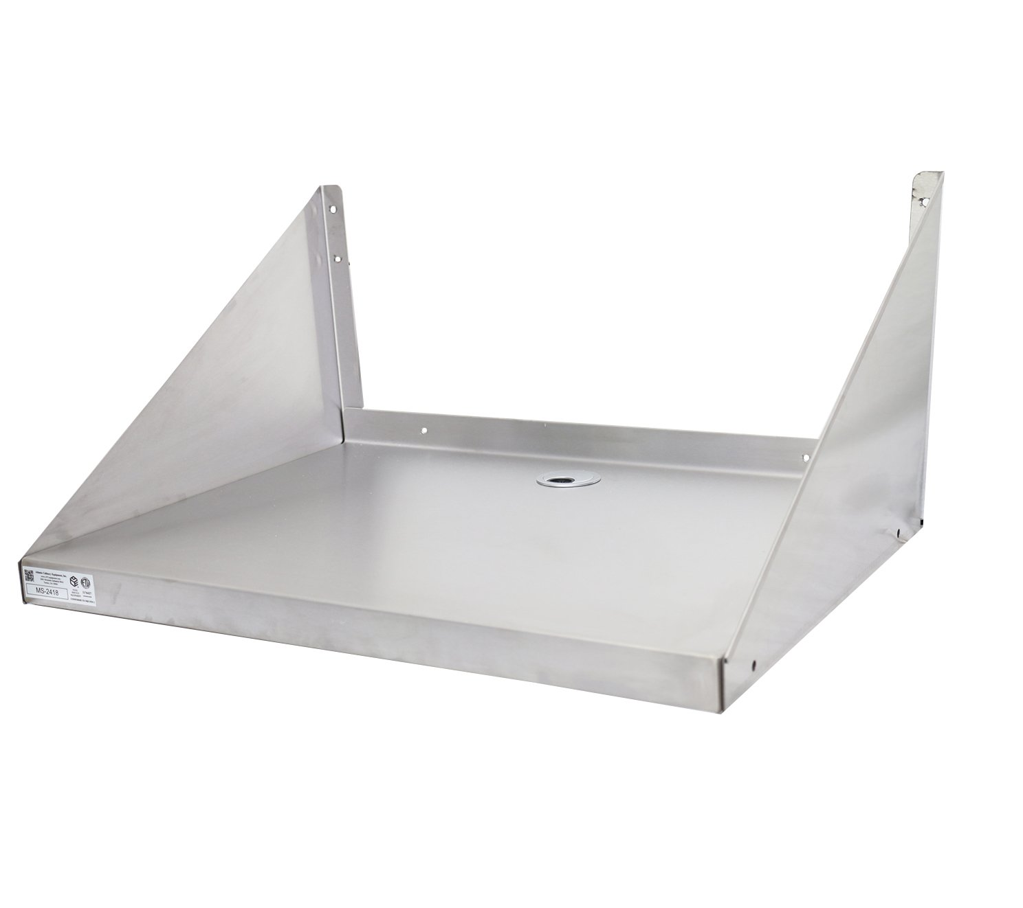 Stainless Steel Microwave Oven Wall Shelf 18''x18''