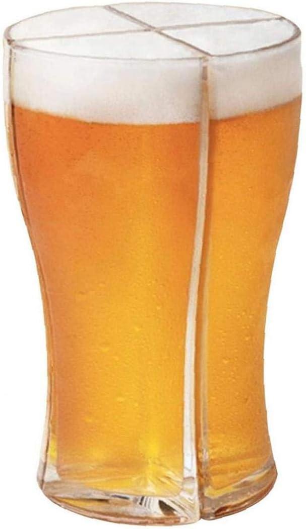 LjzlSxMF Personalizada 4 en 1Glass Cerveza Copas, hogar, restaurantes y Fiestas Tazas de Cerveza Pinta Taza Dimple