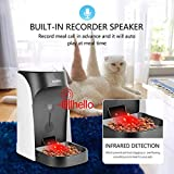 WOPET Automatic Cat Feeder, Pet Feeder Auto Dog Cat Feeder,Portion Control & Voice Recording – Timer Programmable Up to 4 Meals a Day