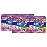 Tampax Radiant Plastic Tampons, 16 Regular/8 Super/8 Super Plus Absorbency Multipack, Unscented, 32 Count, Pack of 4 (Total 128 Count)