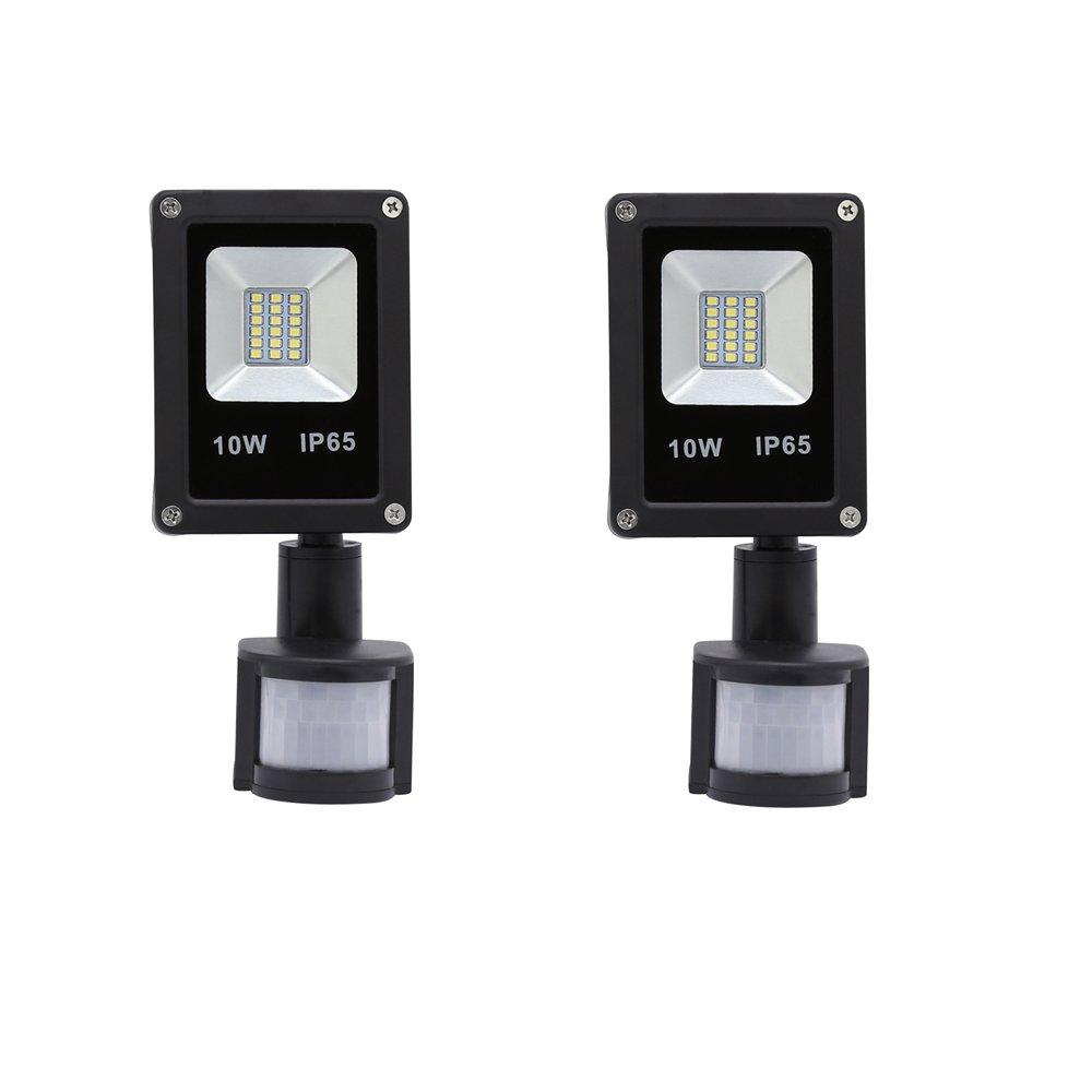 VINGO 2X 20W Kaltweiß LED Strahler Fluter Flutlicht mit Bewegungsmelder außenstrahler Baustrahler [Energieklasse A++] B-1-HG4251*2