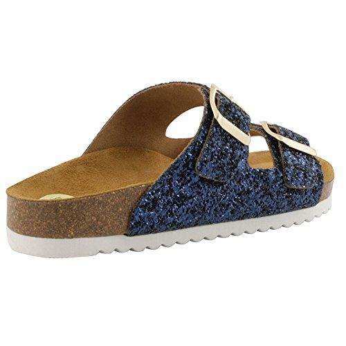 Exclusif ParisExclusif Paris Danae, Chaussures femme Sandales cuir - Sandalias de Vestir Mujer Azul - azul