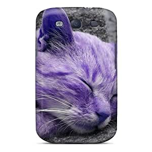 Fashionable Style Case Cover Skin For Galaxy S3- Purple Cat