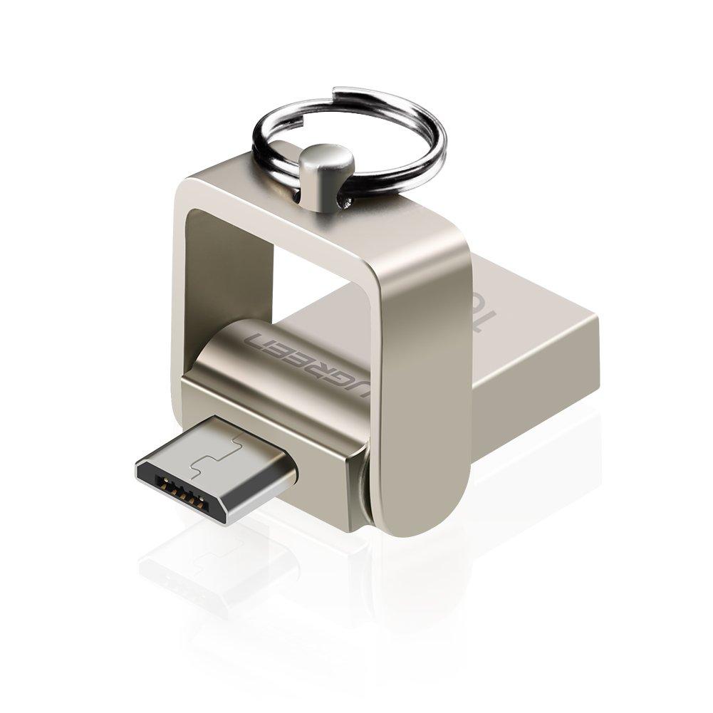UGREEN Android Flash Drive USB 2.0 Micro USB OTG Disk Memory Thumb Drive Keychain (16GB)