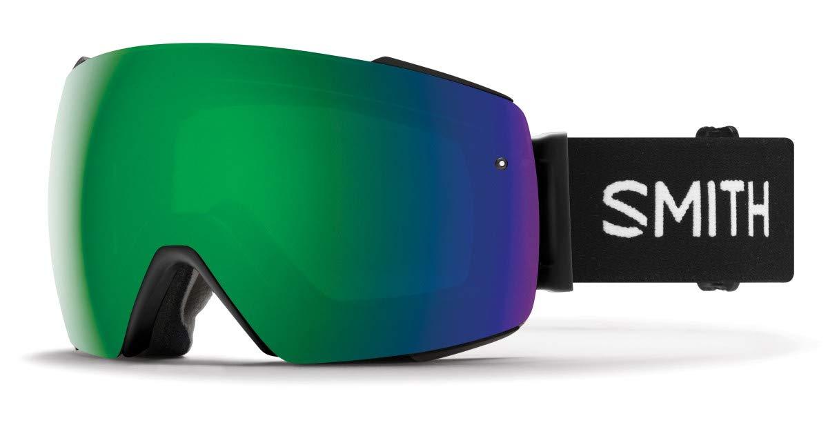 Smith I/O Mag Asian Fit Snow Goggle (Black/CHROMAPOP Sun Green Mirror) - Men's