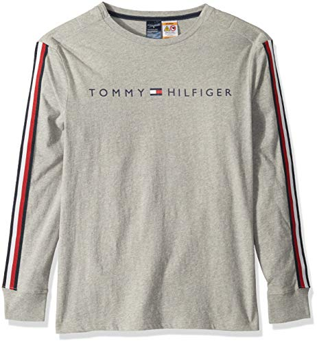 Tommy Hilfiger Adaptive Mens Long Sleeve T Shirt with Magnetic Buttons at Shoulders
