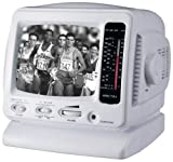 Spectra 52-BWR-W 5'' Portable B&W Television w/AM/FM Radio