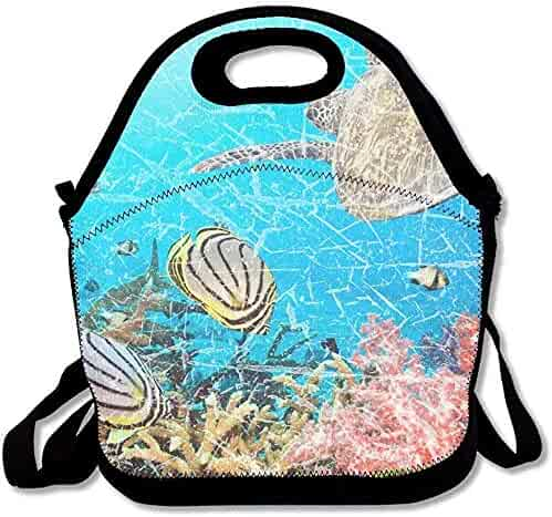 060933bff9 Insulated Neoprene Lunch Bag - Removable Shoulder Strap - Reusable Thermal  Thick Lunch Tote/Lunch