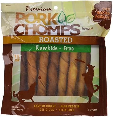 Premium Pork Chomps Roasted Twistz Pork, Large 15ct