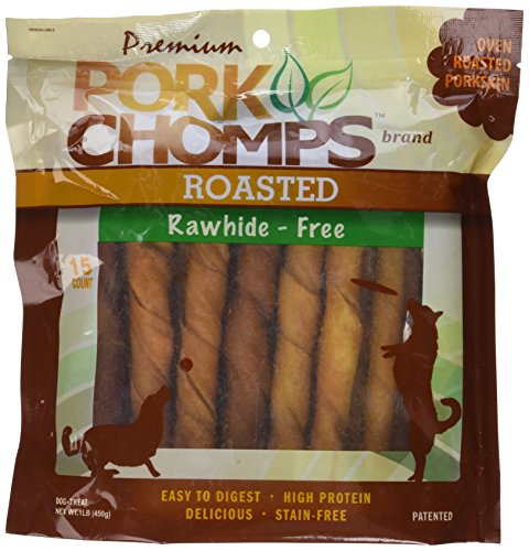 (Premium Pork Chomps Roasted Twistz Pork, Large 15Ct)