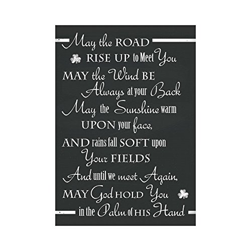 InterestPrint St.Patrick's Day Polyester Garden Flag Outdoor Banner 28 x 40 inch, an Old Irish Saying Decorative Large House Flags for Party Yard Home Decor