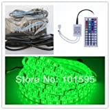 Maxry(TM) 5M RGB Led Strip 5050 DC12v Flexible Waterproof LED Strip Light 300 LEDs + 44 keys Remote + 12V 6A Power Adapter