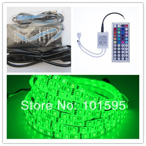 Maxry(TM) 5M RGB Led Strip 5050 DC12v Flexible Waterproof LED Strip Light 300 LEDs + 44 keys Remote + 12V 6A Power Adapter by Maxry