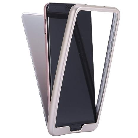 JAWSEU 360 Grados Funda Compatible con Huawei P20 Pro Integral Delantera y Trasera Suave TPU Silicona