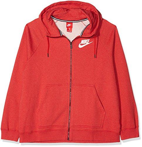 Nike Bianco Ah3973 Rosso Felpa con Lt Cappuccio Htr University Donna Rosso Univ rr1qCP