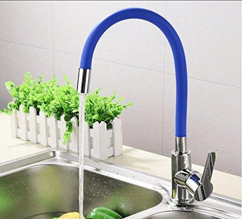 Kokeruup Küchenarmatur Bad warm und kalt Waschbecken Einlochmischer blau