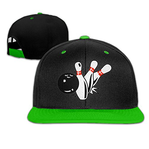 ZOENA Bowling Hip-Hop Cotton Hats Mountaineering Caps Hats KellyGreen