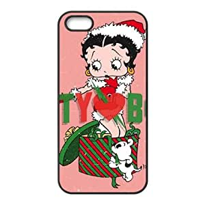 Christmas Betty Boop iPhone 5 5s Cell Phone Case Black Pretty Present zhm004_5019358