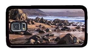Hipster durable Samsung Galaxy Note3 Cases beach shore rocks PC Black Samsung Galaxy Note3