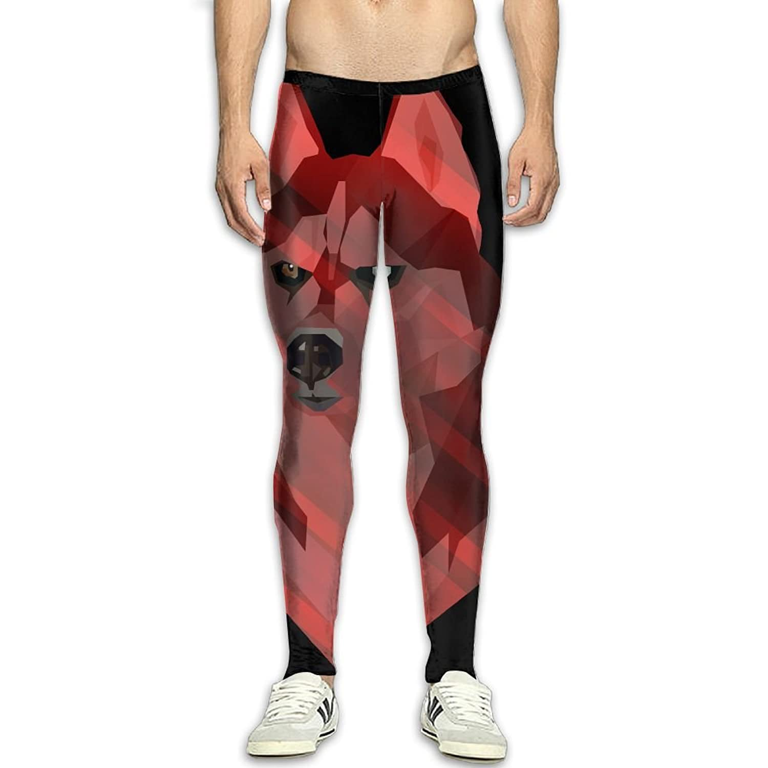 Fri Siberian Husky Dog Compression Pants//Running Tights Panel Leggings Men High Waist