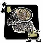 3dRose Dooni Designs Steampunk Designs - Steampunk Gothic Faux Metal Skull Image - 10x10 Inch Puzzle (pzl_102675_2) 5