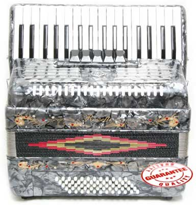 Rossetti Piano Accordion 60 Bass 34 Keys 5 Switches Mexican Flag