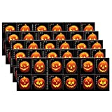 Jack O Lantern 5 Sheets of 20 Stamps (100 Stamps Total) Halloween Pumpkin Holiday