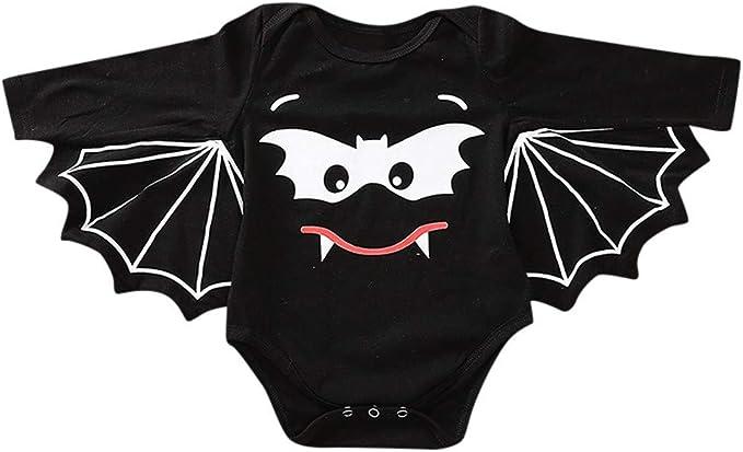 QinMMROPA bebé niños niñas Halloween Murciélago Cosplay Disfraz ...