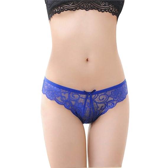 Modaworld Ropa Interior Sexy Mujer Lencería Sexy Bragas eróticas Mujeres Encaje Ahueca hacia Fuera el Arco