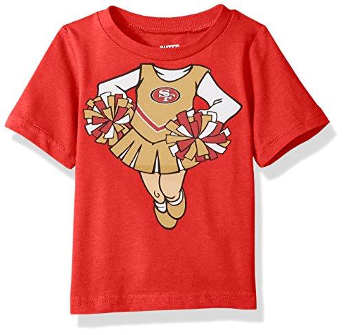 Outerstuff NFL Infant Dream Cheerleader Short Sleeve Tee-Red-24 Months, San Francisco 49ers