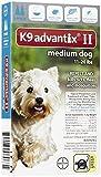 Advantix II Flea Drops, Tick and Mosquito Prevention K9 Medium Dog 2 Doses