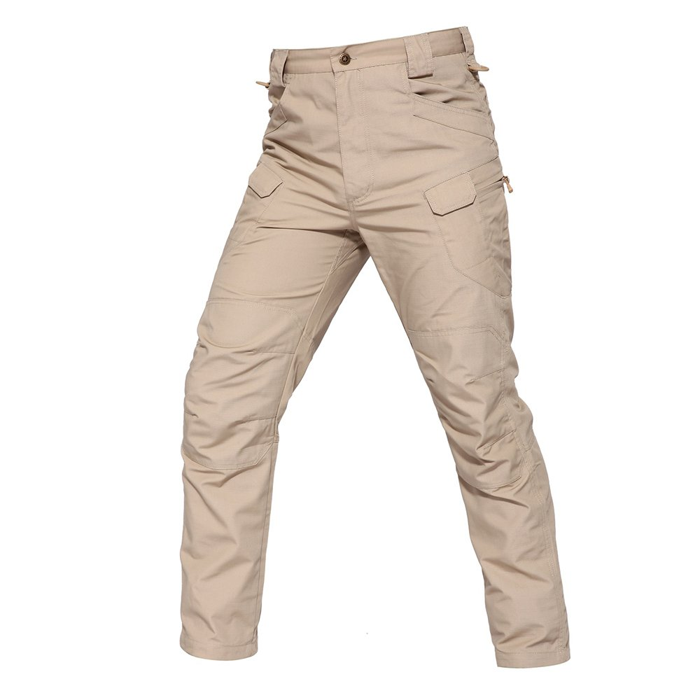 TACVASEN Female Outdoor UV Protection Rip-stop Tactical Military Army Cargo Trousers Pants Khaki