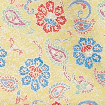 Rote /& blaue Blumen auf einem gelben Hintergrund Notch Einstecktuch aus Seide f/ür Herren