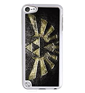 Big Triforce White Hardshell Case for iPod Touch 5G iTouch 5th Generation