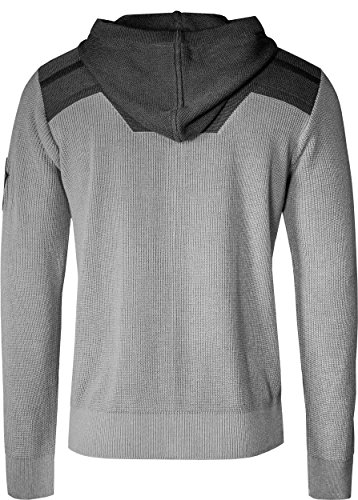 Musterbrand Warhammer 40.000 Pull à capuche Homme Necron cardigan Gris