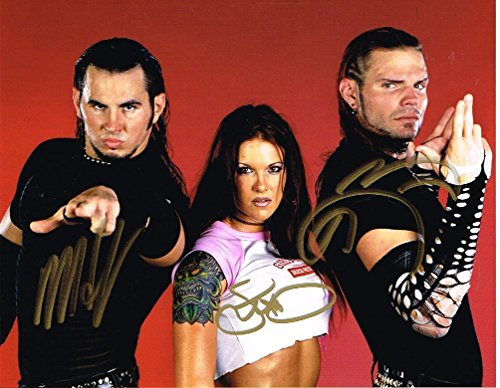 Hardy Signed Baseball - Wwe Jeff Hardy Matt Lita Team Extreme Autographed 8x10 Photo Signed Autograph - Autographed Wrestling Photos