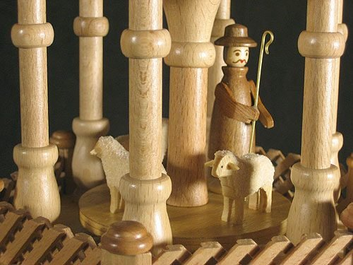 Dregano 4 Level Natural Wood Nativity Christmas Pyramid by Dregano (Image #2)