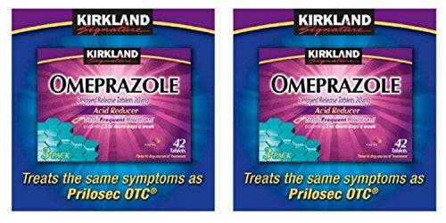 Lot of 2 Kirkland Omeprazole 20mg {42 Tablets x 2= 84 Tablets} Acid Reducer ()