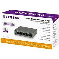 NETGEAR GS305-100PAS 5-Port GIGABIT 10/100/1000 Ethernet Switch SOHO UNMANAGED PLUG N PLAY