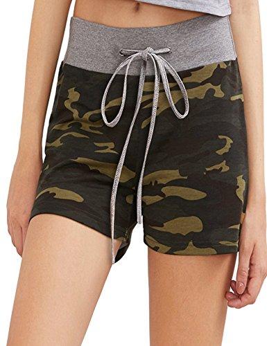 Aifer Women's Camouflage Bottoms Activewear Drawstring Pants Workout Yoga ()